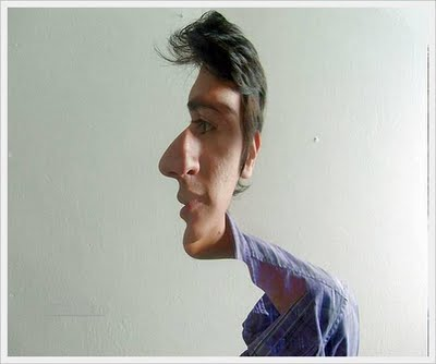Double face optical illusion