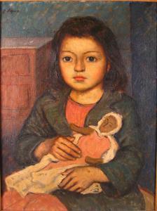lopez_enrique-portrait_of_a_girl_holding_doll