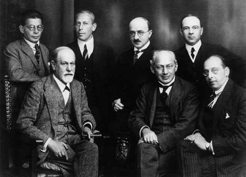 Secret Committee of psychoanalysis. O. Rank, K. Abraham, M. Eitingon, E. Jones, Sigmund Freud, S. Ferenczi, G. Sachs. Berlin, 1922