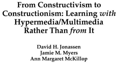 from constructivism to constructionism